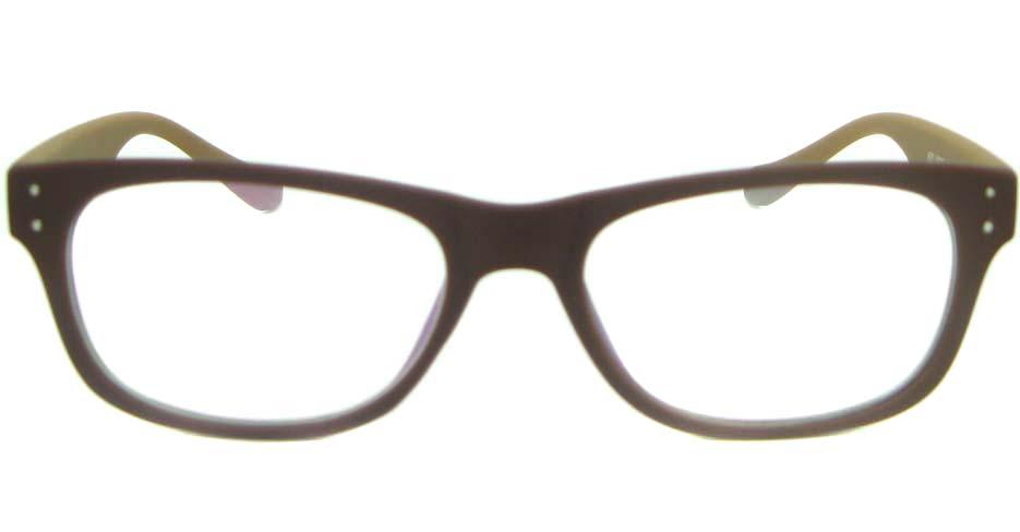 brown with tea tr90 oval glasses frame YL-KDL8051-C5