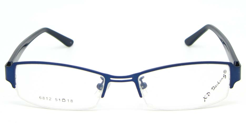black with blue blend rectangular glasses frame  WKY-XDBL6812-L