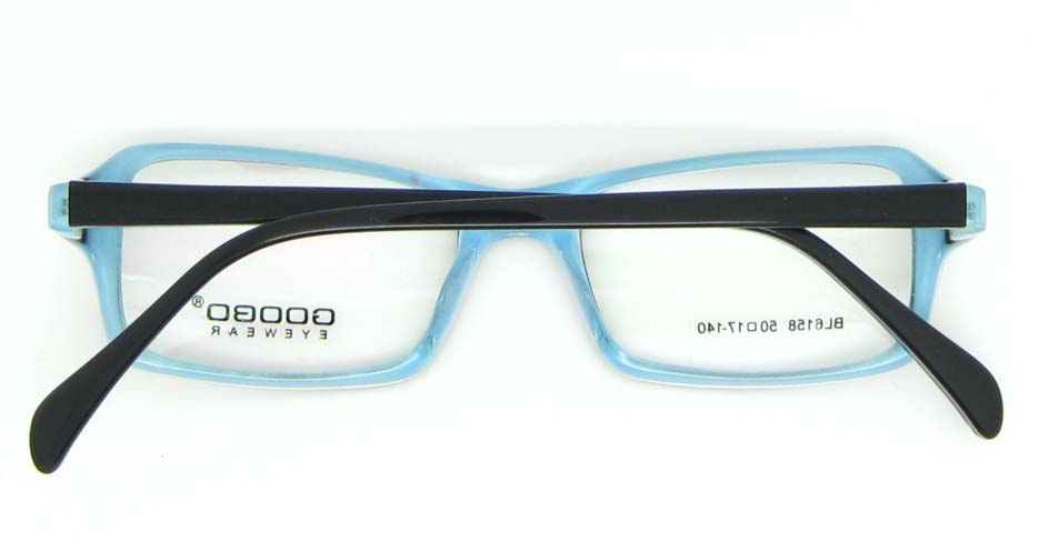 blue with black Acetate Rectangular glasses frame WKY-BL6158-C121
