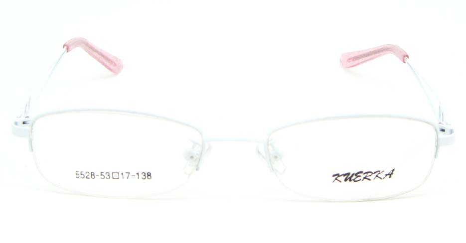 white  oval metal glasses frame WKY-KM5528-BS