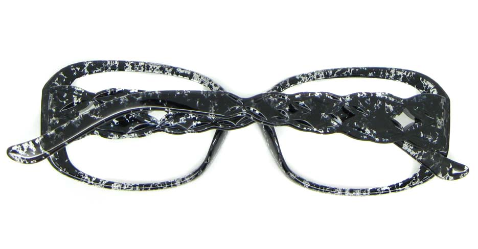 grey oval plastic glasses frame WLH-7105-C1