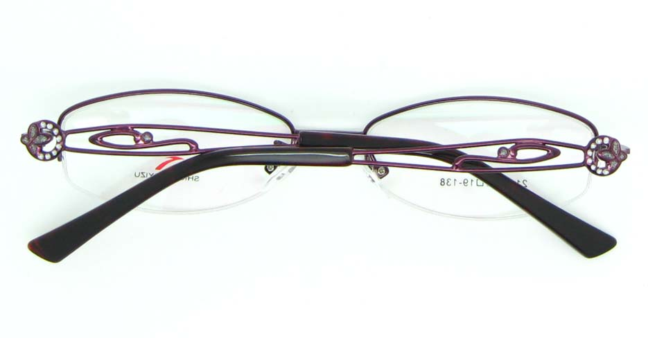 purple oval metal glasses frame JNY-SSYZ2149-ZHS