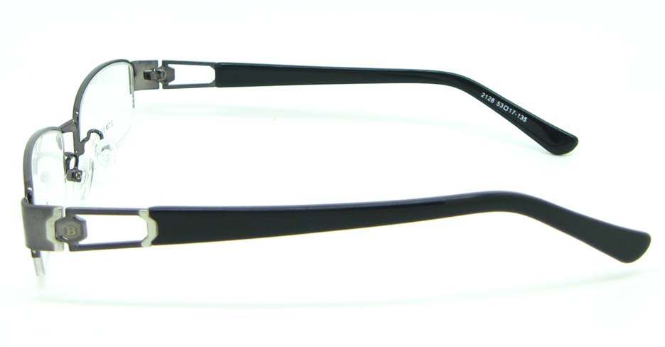 black with grey blend Rectangular glasses frame JNY-BSM2118-Q