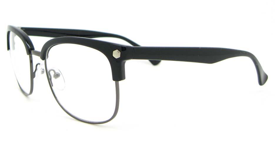 retro blend black oval glasses frame  WLH-QS010-C1