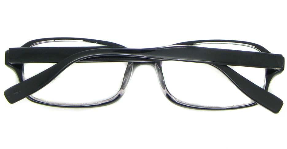 black Acetate rectangular glasses frame WKY-BL6169-C64