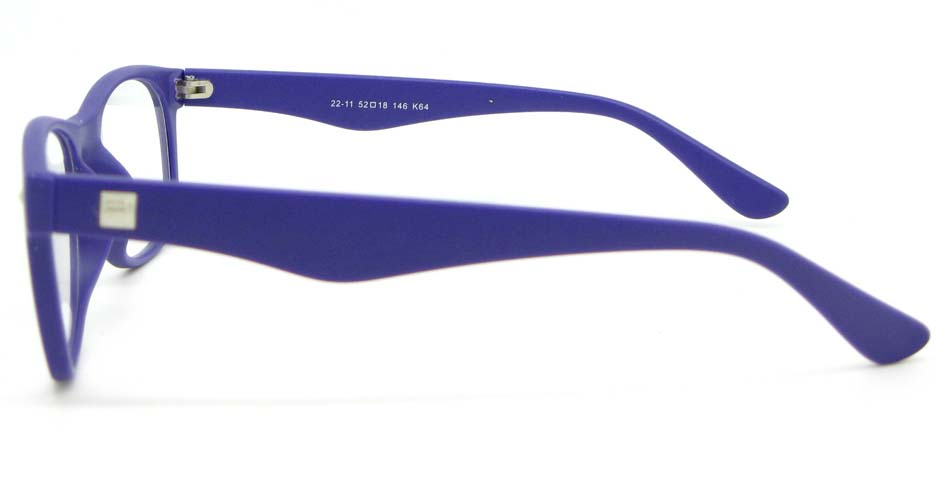Purple plastic Wayfarer  glasses frame WLH-2212-K64