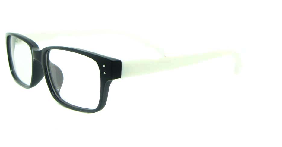 black with white Rectangular tr90 glasses frame YL-KDL8036-C4