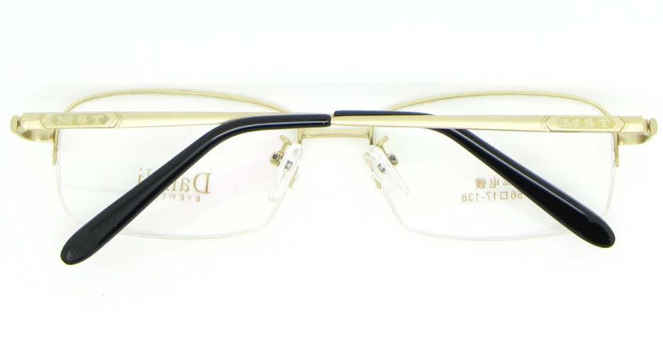 gold metal Rectangular glasses frame WKY-DNI6027-J