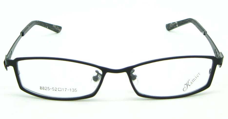 red with black metal oval glasses frame  JNY-KM8825-HS