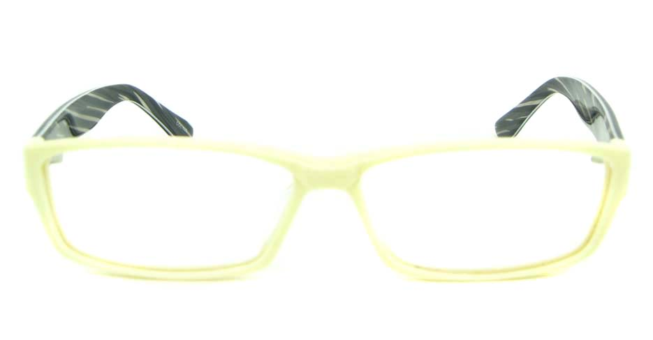 yellow with black Rectangular Acetate glasses frame YL-JB8312-C530