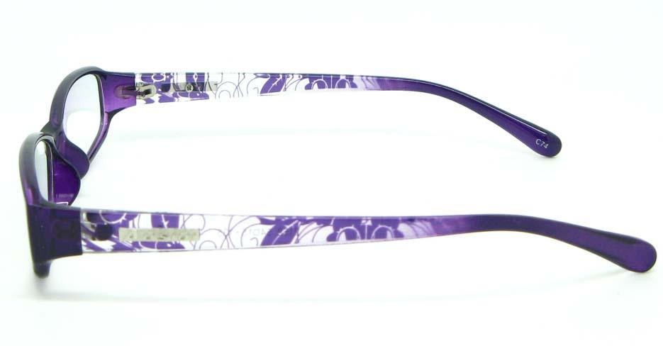 black with purple tr90 Rectangular glasses frame JNY-ASD2158-C74