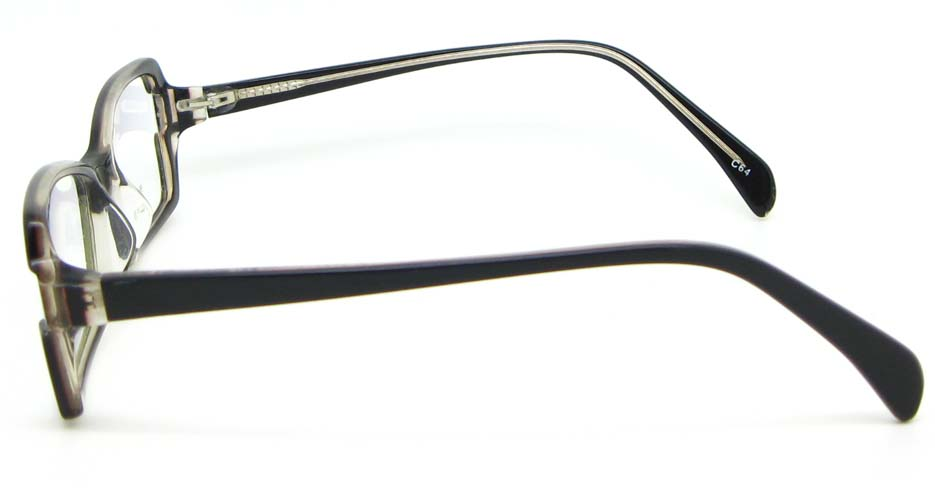 black oval Acetate glasses frame WKY-BL6184-C64