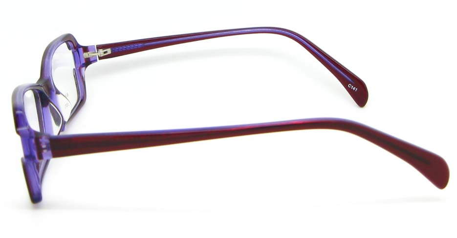 Burgundy oval Acetate glasses frame WKY-BL6184-C141