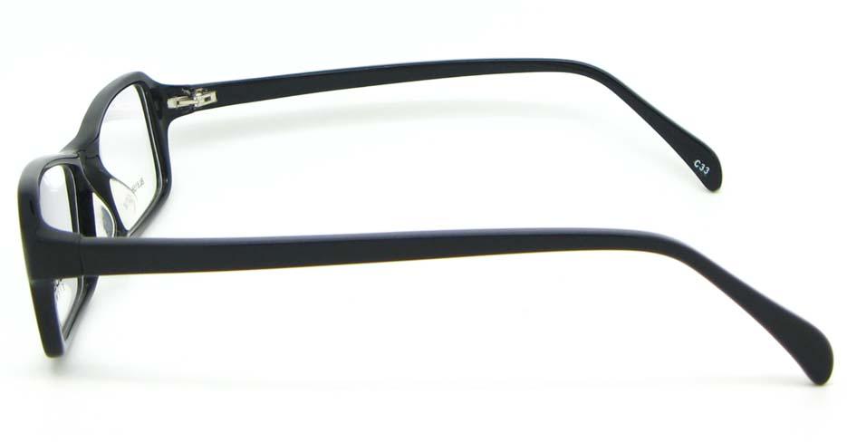 black Acetate Rectangular glasses frame WKY-BL6158-C33