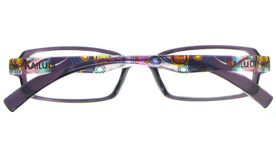 purple rectangular tr90 glasses frame YL-KLD8007-C4