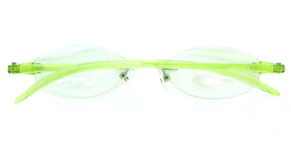 Rim Glasses  green oval plastic JNY-GD3807-LS