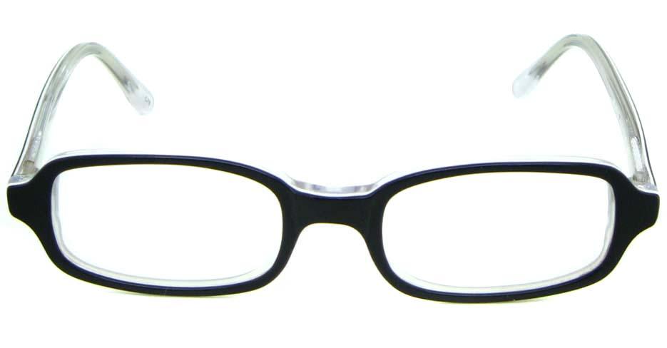 black plastic rectangular glasses frame JNY-BL6239-C78