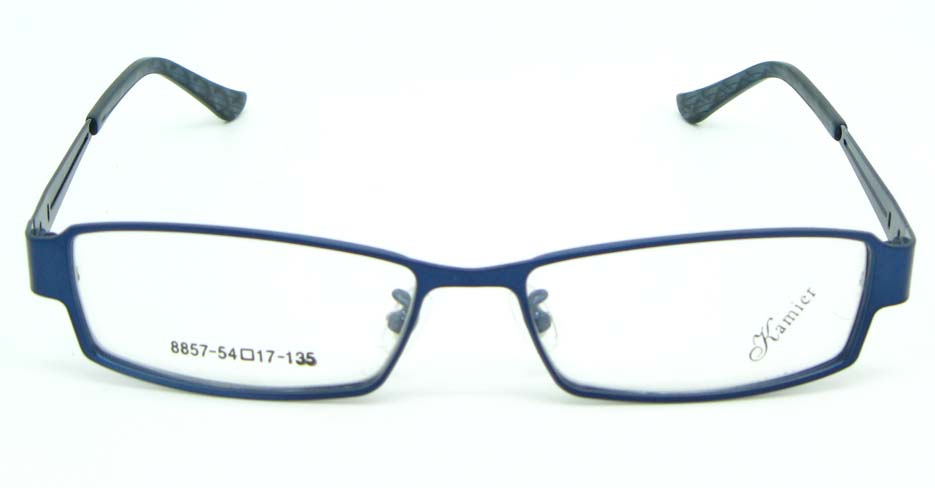 blue Rectangular metal glasses frame JNY-KM8857-L