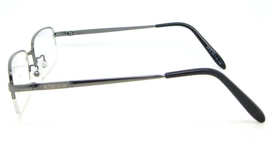 Gun metal rectangular glasses frame WKY-DNI6015-Q