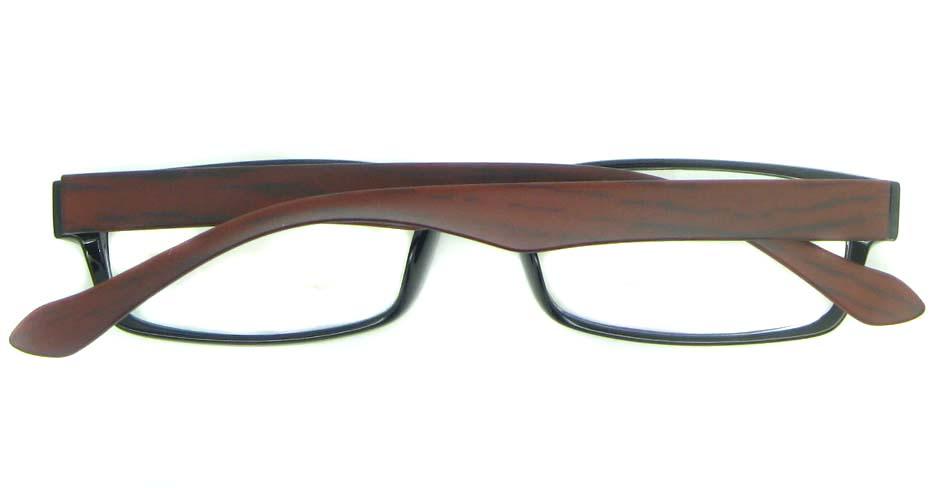 brown with black tr90 Rectangular glasses frame YL-KDL8039-C7