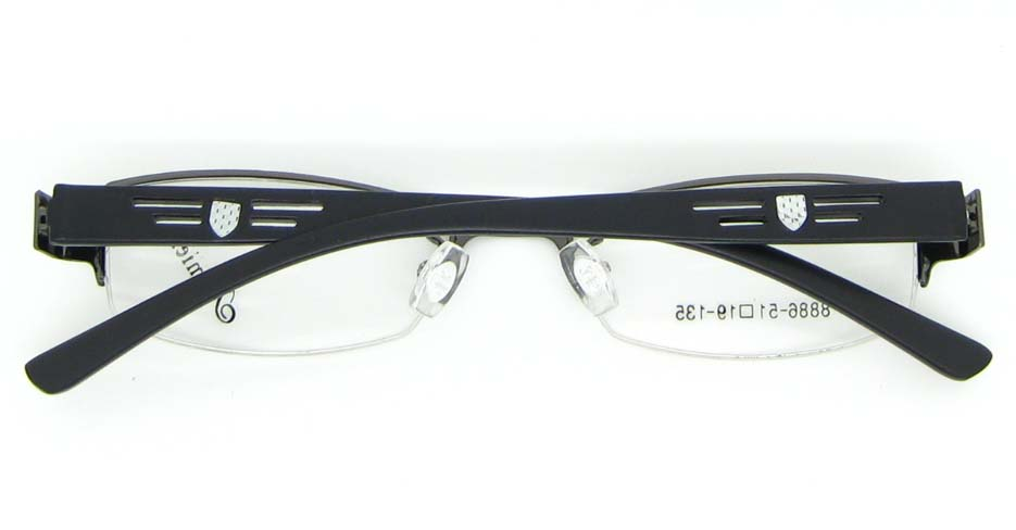 black with gun blend Rectangular glasses frame WKY-KM8886-Q