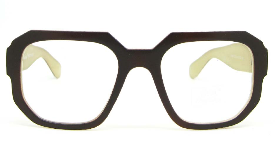 retro large brown  blend oval glasses frame WLH-OF884-C2