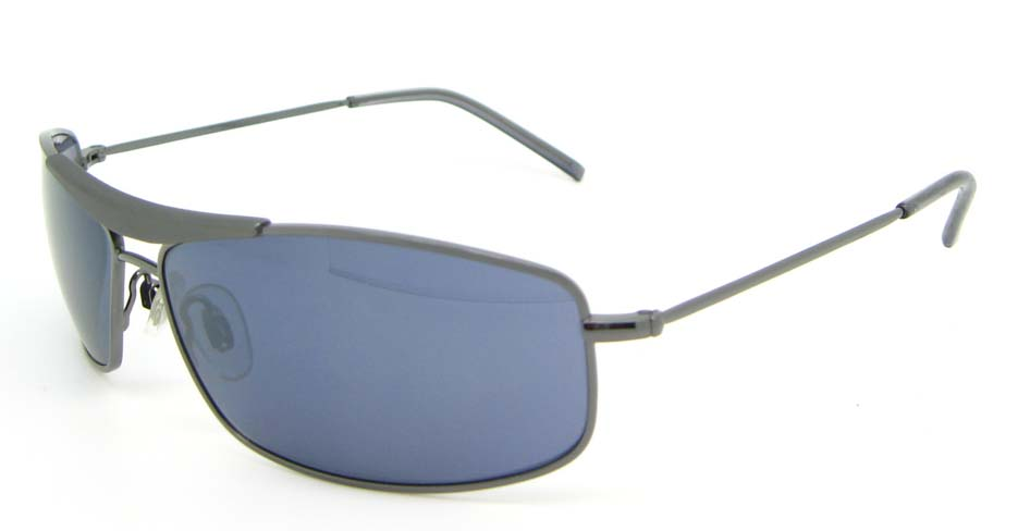 Black Metal Rectangle Leisure sunglasses  XL052