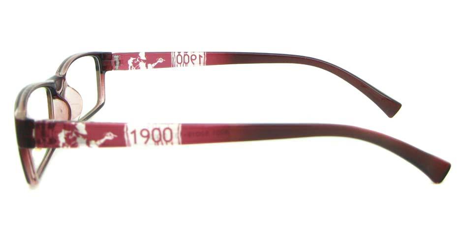 red Rectangular tr90 glasses frame YL-KLD8001-C5