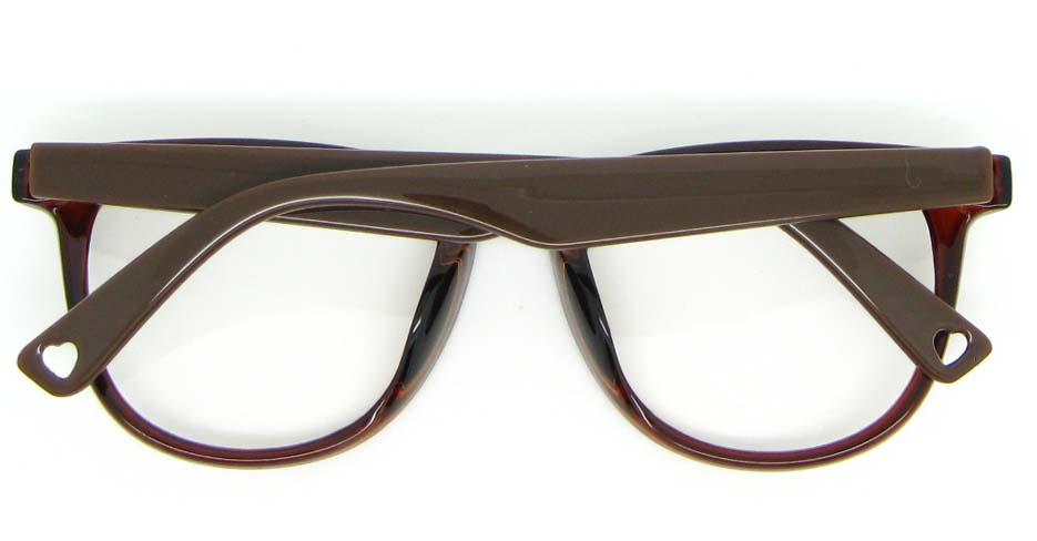 wine with brown blend oval glasses frame WLH-8332-C4