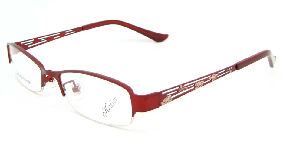 red metal oval glasses frame WKY-KM8879-H