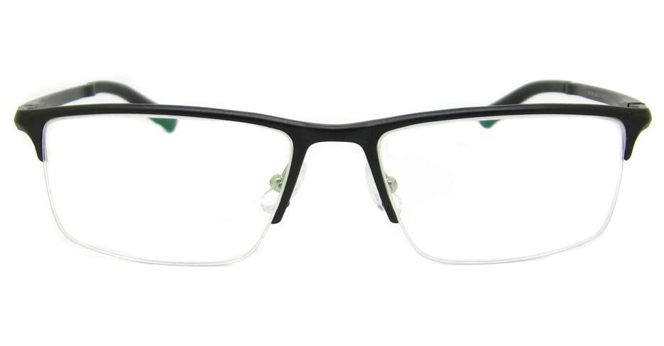 Al Mg alloy Black Rectangular glasses frame LVDN-GX146-C01