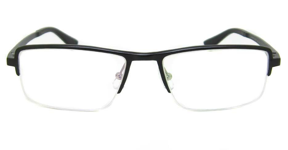 Al Mg alloy Black Rectangular glasses frame LVDN-GX147-C01