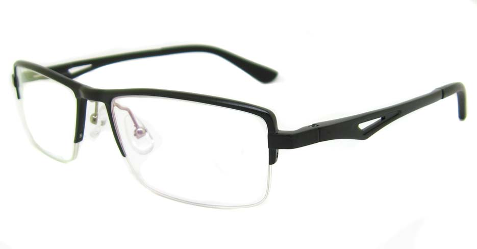Al Mg alloy Black Rectangular glasses frame LVDN-GX147-C01