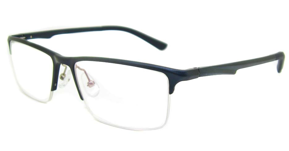 Al Mg alloy Blue Rectangular glasses frame LVDN-GX146-C07