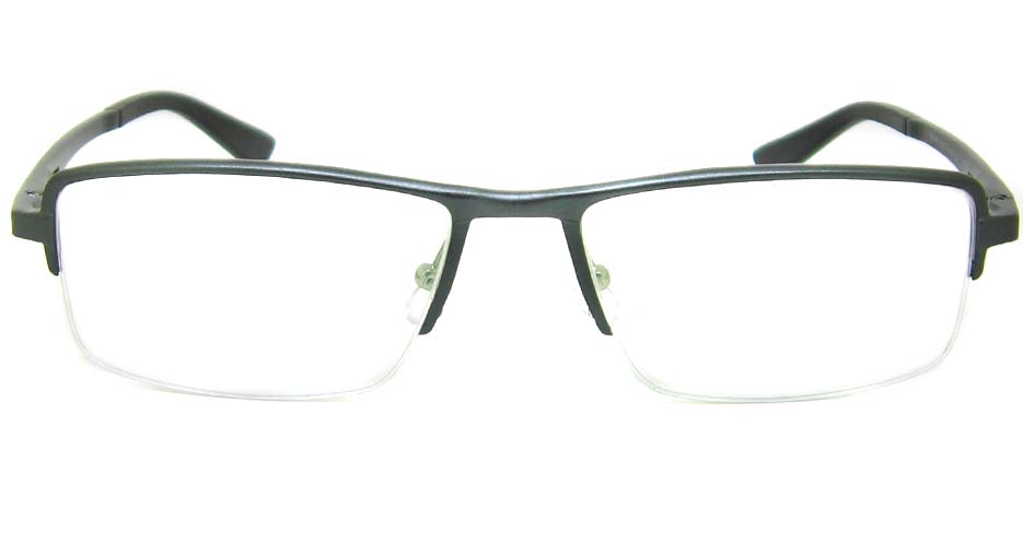 Al Mg alloy Grey Rectangular glasses frame LVDN-GX147-C02
