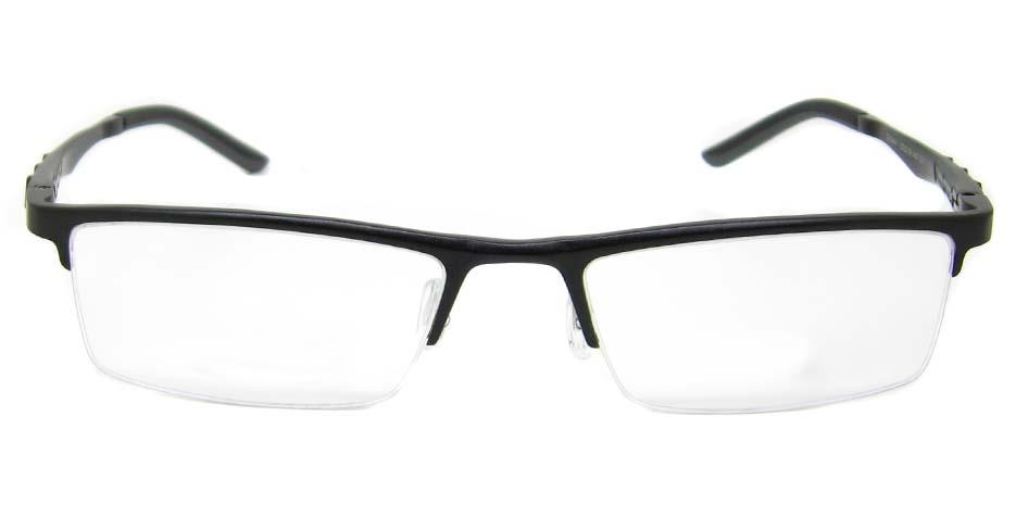Al Mg alloy black rectangular glasses frame LVDN-GX044-C01