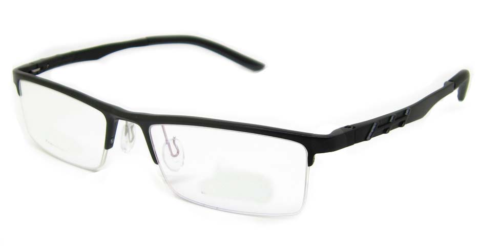 Al Mg alloy black rectangular glasses frame LVDN-GX044-C01