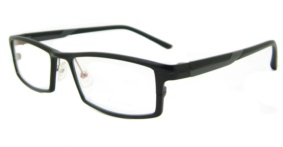Al Mg alloy black rectangular glasses frame LVDN-GX085-C01