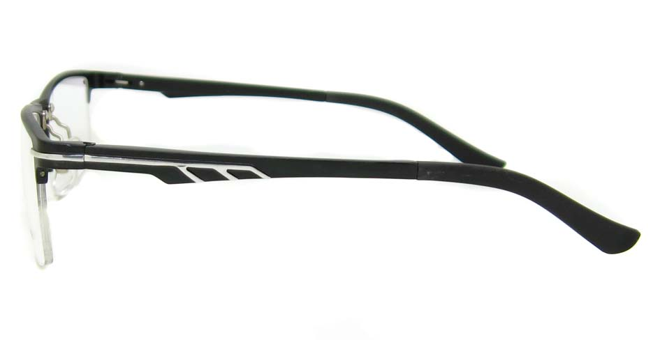 Al Mg alloy black rectangular glasses frame LVDN-GX151-C01