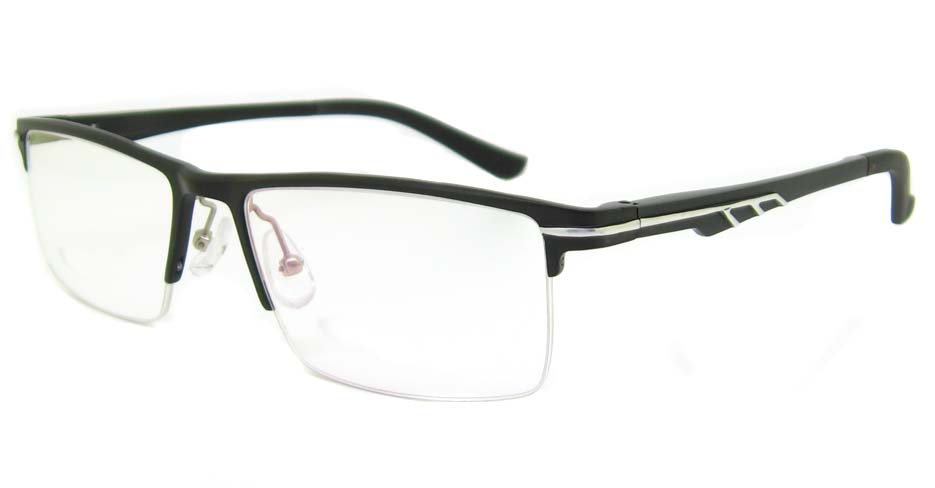 Al Mg alloy black rectangular glasses frame LVDN-GX151-C01