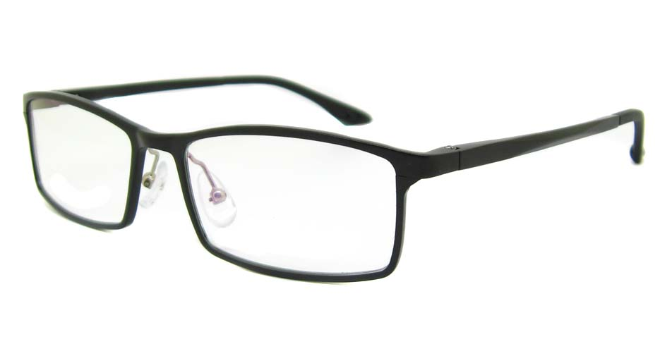 Al Mg alloy black rectangular glasses frame LVDN-GX209-C01