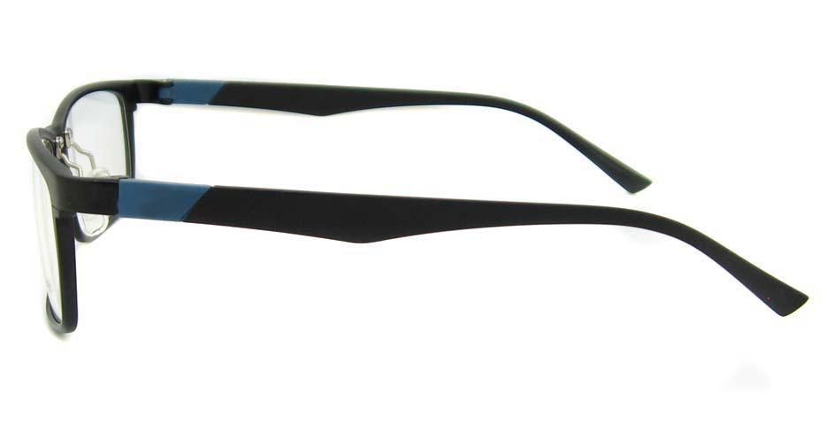 Al Mg alloy black with blue Rectangular glasses frame LVDN-GX104-C01