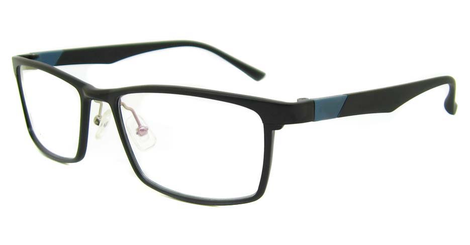 Al Mg alloy black with blue Rectangular glasses frame LVDN-GX104-C01