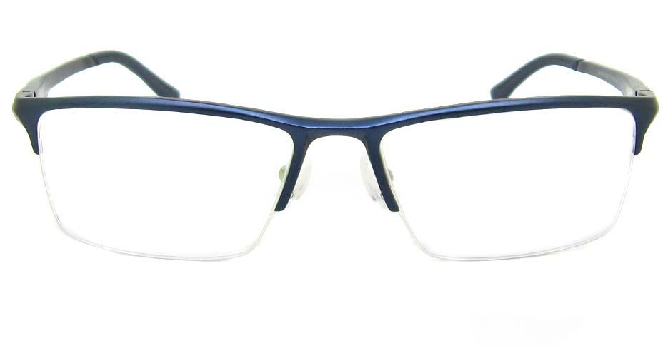 Al Mg alloy blue Rectangular glasses frame LVDN-GX142-C07