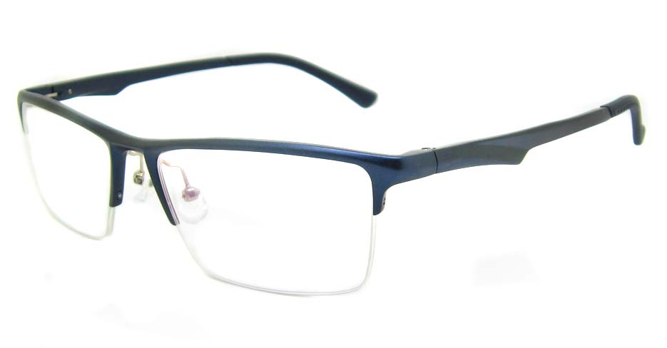 Al Mg alloy blue Rectangular glasses frame LVDN-GX142-C07