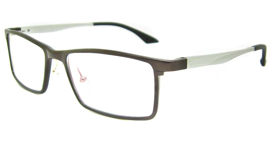 Al Mg alloy brown rectangular glasses frame LVDN-GX043-C03