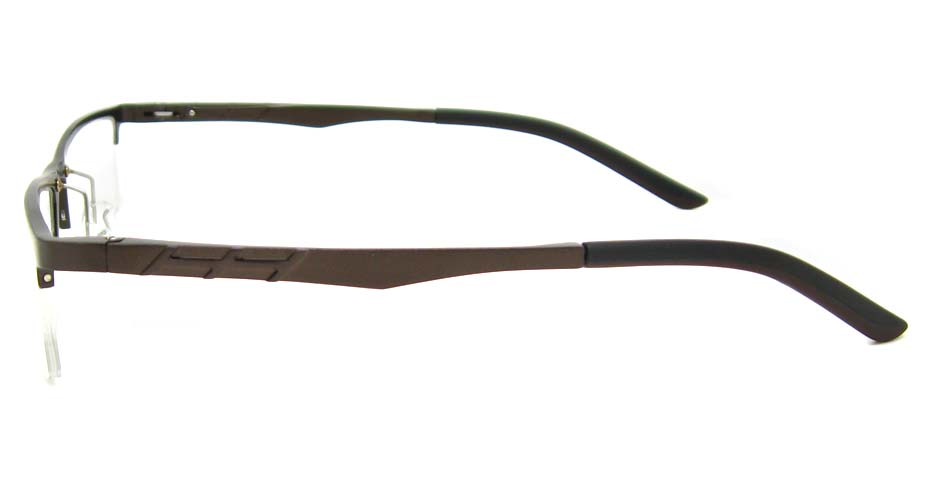 Al Mg alloy brown rectangular glasses frame LVDN-GX044-C06