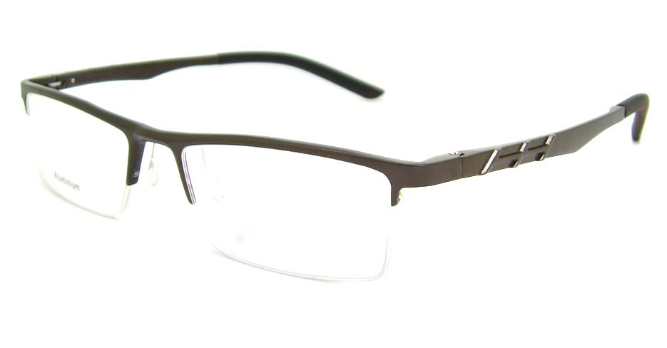 Al Mg alloy brown rectangular glasses frame LVDN-GX044-C06