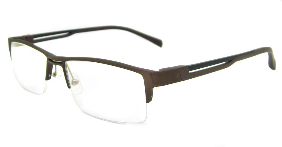 Al Mg alloy brown rectangular glasses frame LVDN-GX093-C13