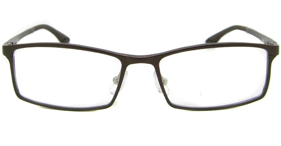 Al Mg alloy brown rectangular glasses frame LVDN-GX209-C06